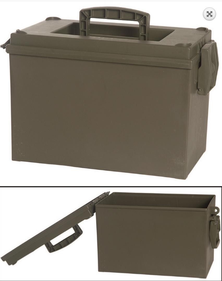 US munitions boîte en plastique Boîte Box Rangement Cantine Armée