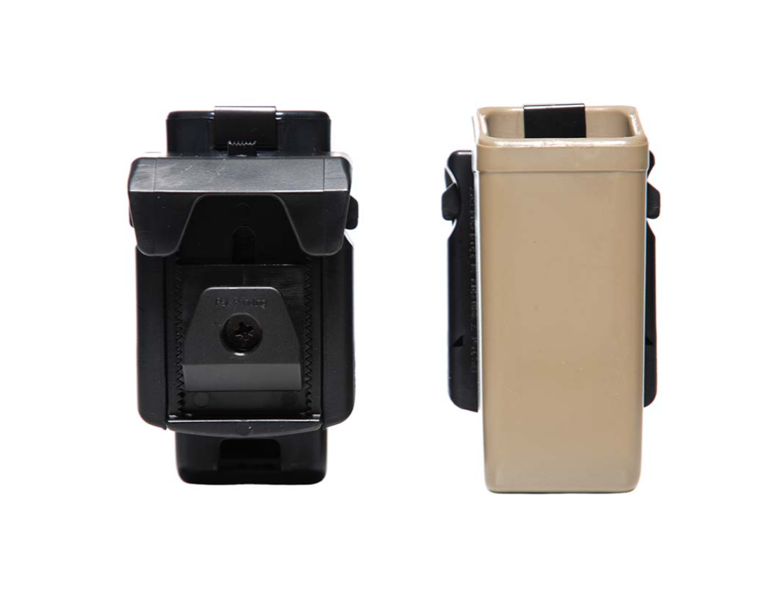 Porte chargeur simple, rigide pistolet tan (ESP)