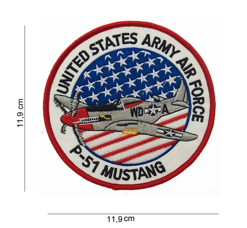 "Ecusson "" United States army Airforce P-51 Mustang "" (grand)"